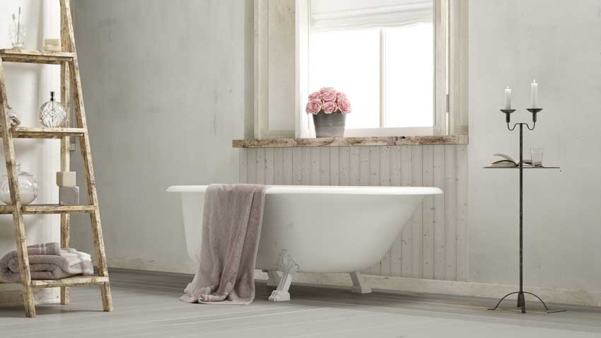 salle de bain style shabby chic country
