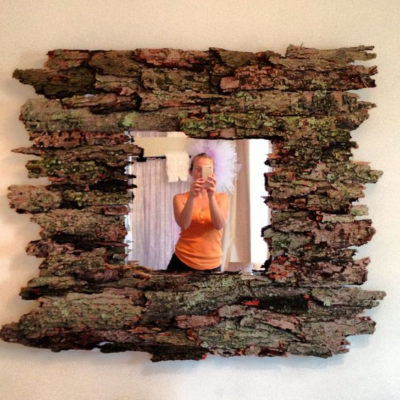 cadre DIY écorce d'arbre.