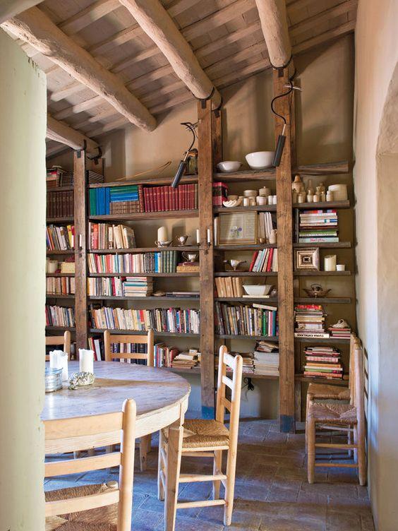 Bibliothèques esprit rustique