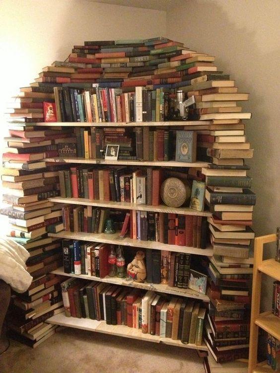 Bibliothèques DIY esprit rustique